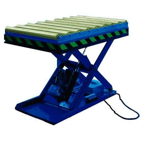 Mesa Elevadora Eléctrica 1000kg a 1m (con rodillos)