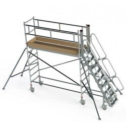 Escaleras--Plataforma de Aluminio 150kg a 2000mm de altura