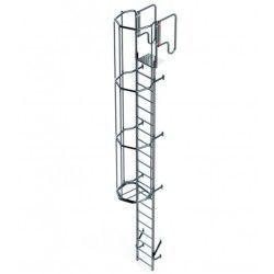 Escalera Vertical con Jaula de Protección