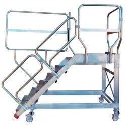Escalera de Aluminio Carga/Descarga para Camiones