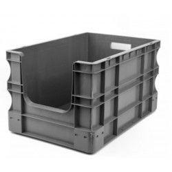 Contenedores y cestones--Caja de Plástico Apilable