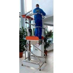 Plataformas--Plataforma Elevadora Manual 150kg a 1,93m Elevación