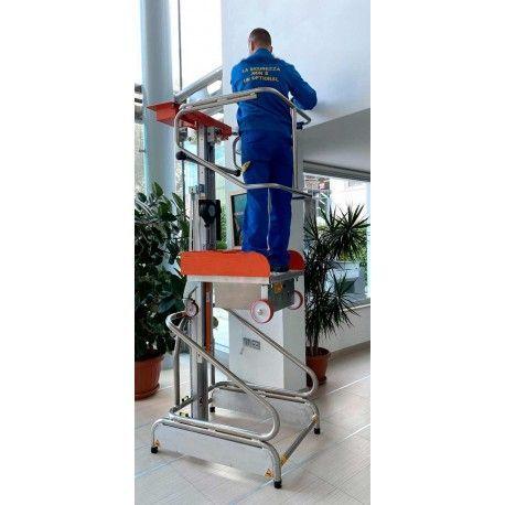 Recogepedidos, Elevadores para Picking--Plataforma Elevadora Manual 150kg a 1,93m Elevación