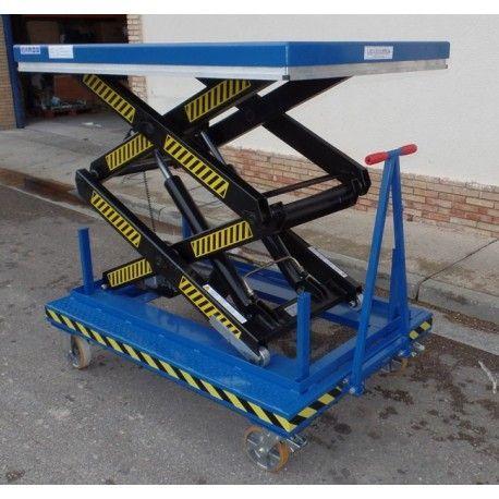 Mesa Elevadora Eléctrica con Ruedas y Tirador 2000kg