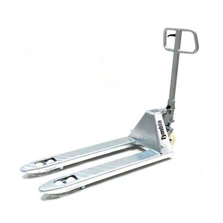 Transpaletas inox y galvanizadas--Transpaleta Galvanizada 1150x525mm