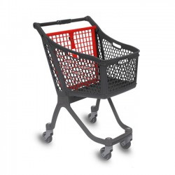 Supermercados y almacenes--Carro Supermercado Plástico 75L