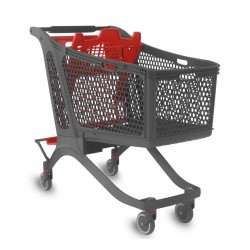 Supermercados y almacenes--Carro Supermercado Plástico 240L