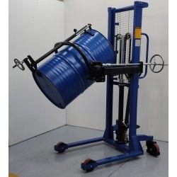 Apilador rotador de bidones.