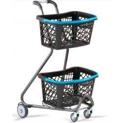 Supermercados y almacenes--Carro autoservicio con cesta de mano ECO