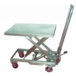 Mesa Elevadora Manual 200kg a 910mm (INOX)