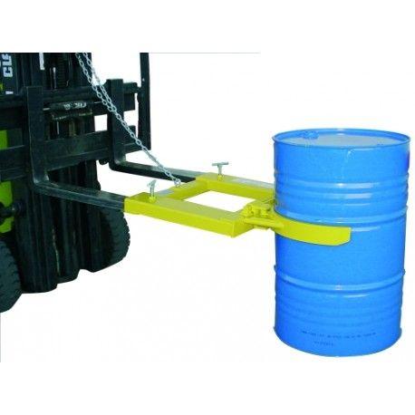 Para cargar bombonas y bidones--Implemento bidón vertical pinza de chapa