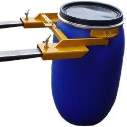 Para cargar bombonas y bidones--Implemento bidón vertical pinza (plástico y chapa)