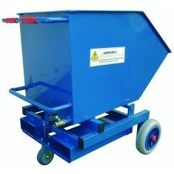 Tilting hopper 300L (with tap)
