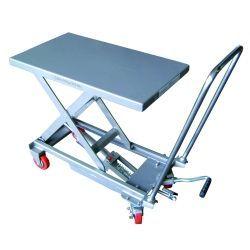 Mesas Manuales--Mesa Elevadora Aluminio 100kg a 750mm