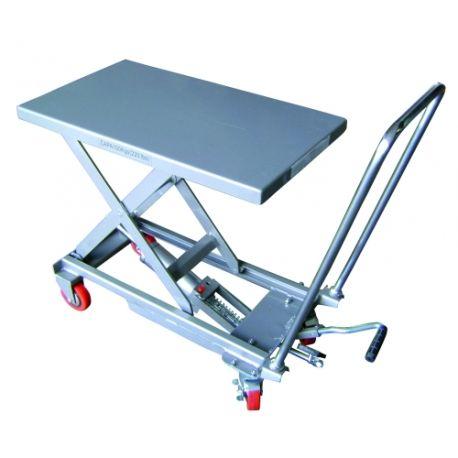 Mesas Manuales--Mesa Elevadora Manual 100kg a 750mm (aluminio)