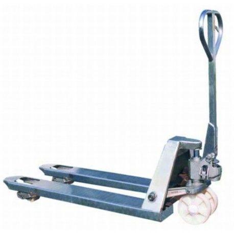 Transpaletas inox y galvanizadas--Transpaleta Galvanizada 1500x520mm (larga)