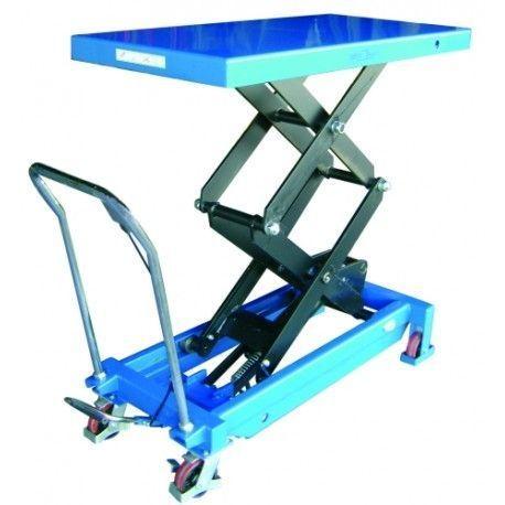 Mesas Manuales--Mesa Elevadora Manual 1000kg a 1875mm (asa desmontable)